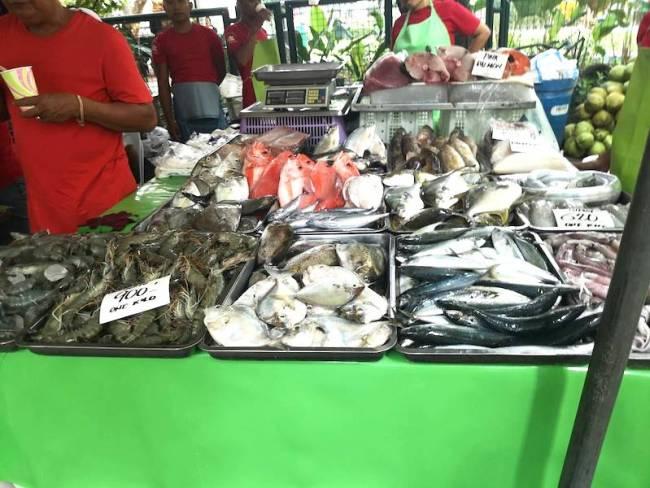 サルセドサタデーマーケットの魚屋