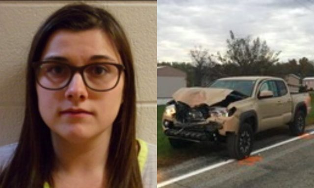 Photo of Alyssa Shepherd and Pickup Truck she was driving