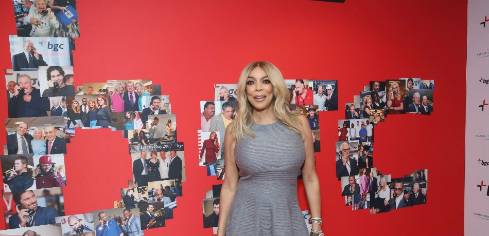 Wendy Williams poses in front of