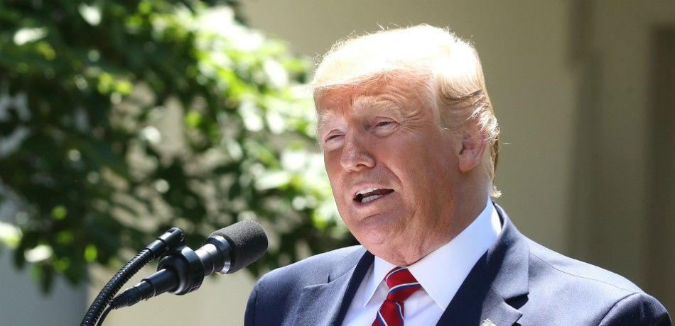 President Donald Trump speaks to the media during a news conference in the Rose Garden at the White House.