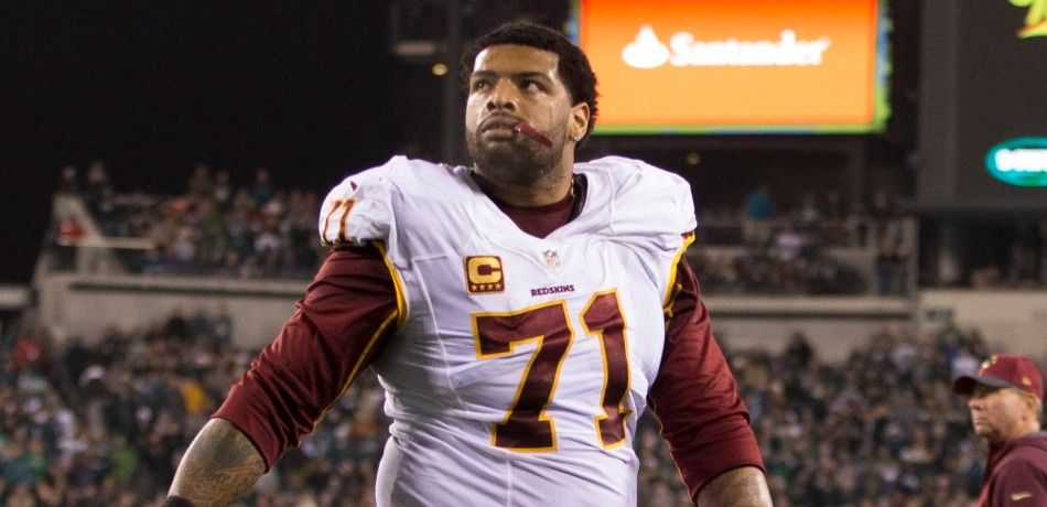 Trent Williams of the Washington Redskins walks off the field during a 2015 game against the Philadelphia Eagles.