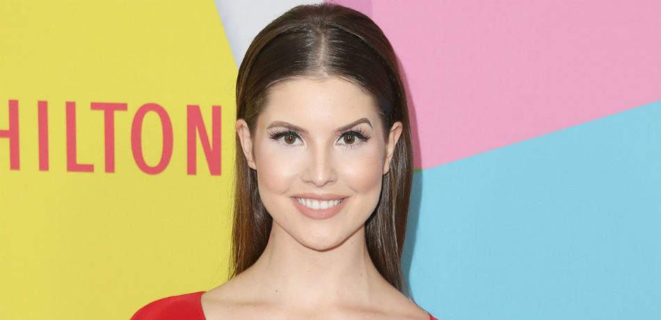 Amanda Cerny smiles and poses as she attends the 2017 Streamy Awards at The Beverly Hilton Hotel on September 26, 2017 in Beverly Hills, California.