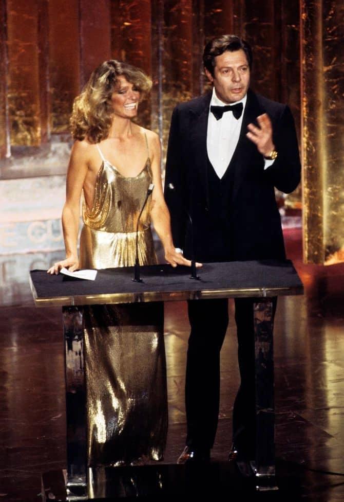 Фарра Фосетт в 1978 г. на церемонии вручения Оскара