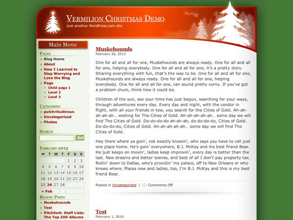 Vermilion Christmas