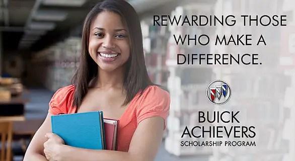 Buick Achievers Scholarship >> Buick Achievers Scholarship Program 2018 2019