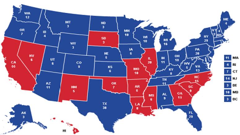 Bernie Sanders Write In States