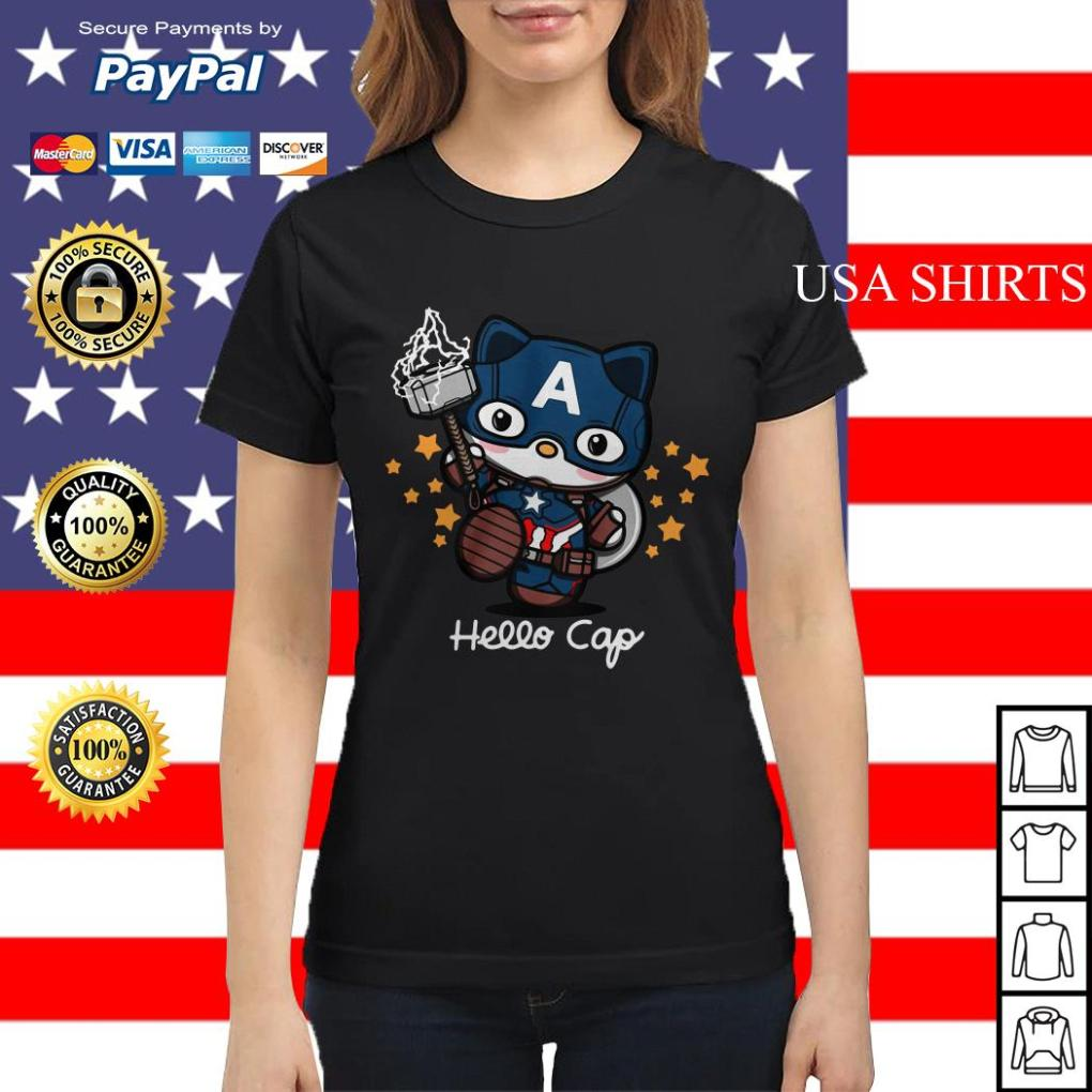 Hello Kitty Captain America Ladies tee