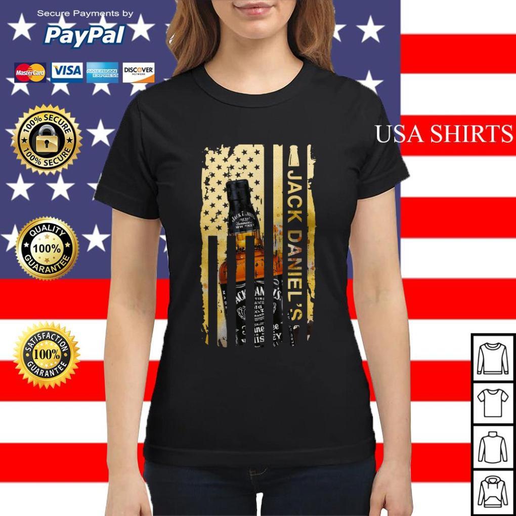 Jack Daniels flag America Ladies tee
