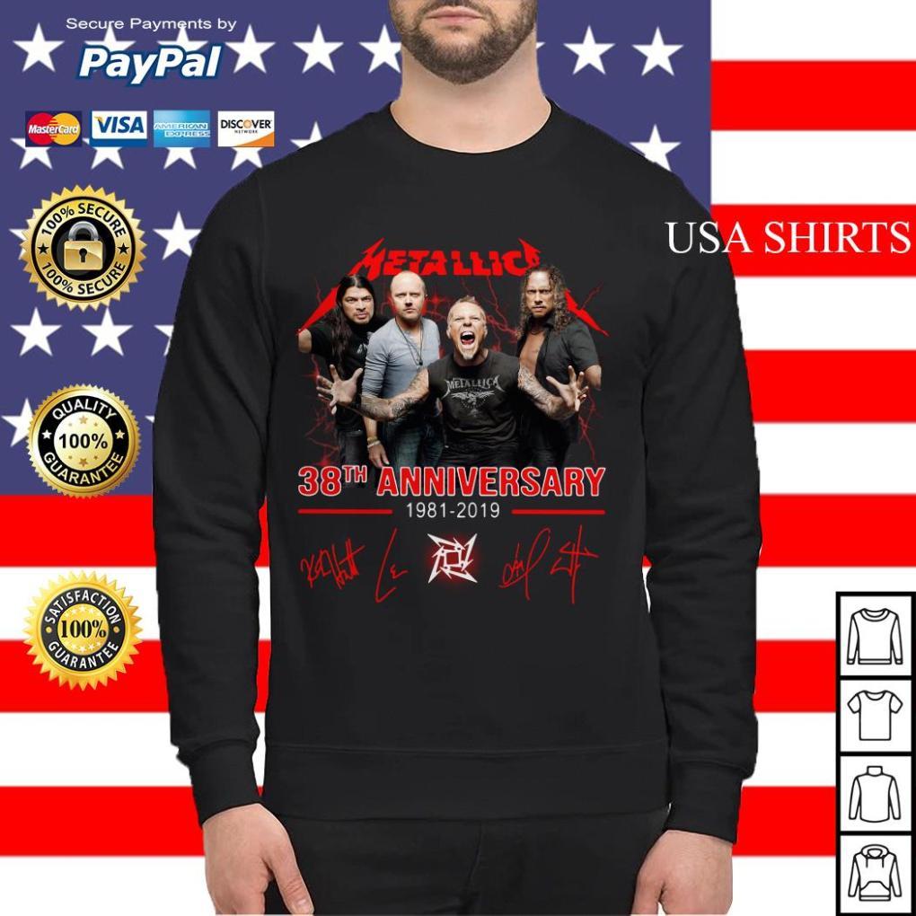 Metallica 38th anniversary 1981 2019 signature Sweater