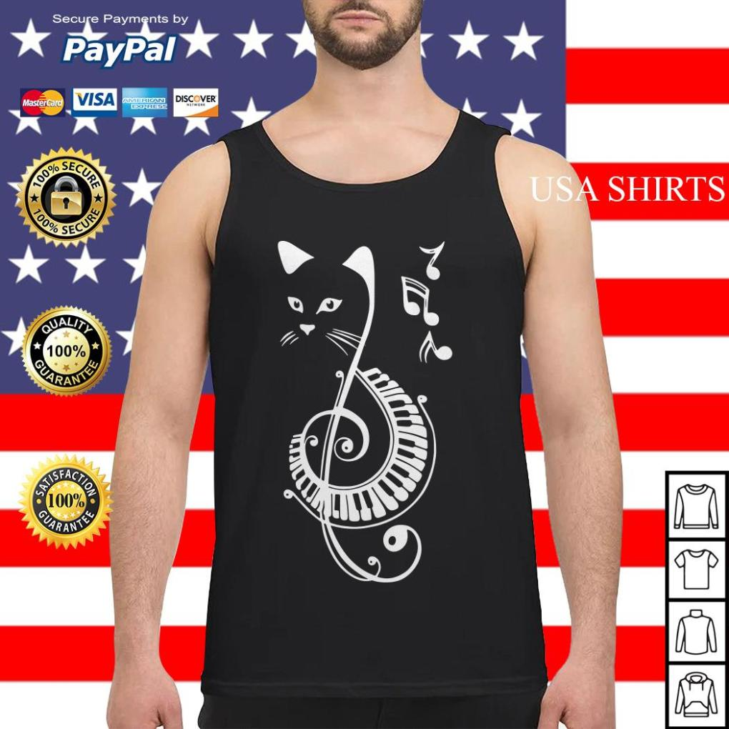 Musical Notes Cat Tank top