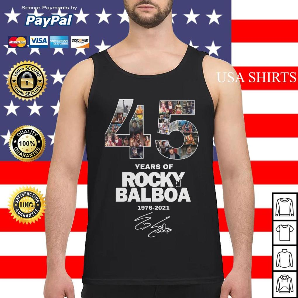 Official 45 years of Rocky Balboa 1976 2021 Tank top