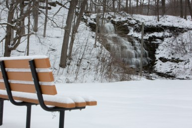 Waterfalls in the snow at Clarendon, NY. www.usathroughoureyes.com