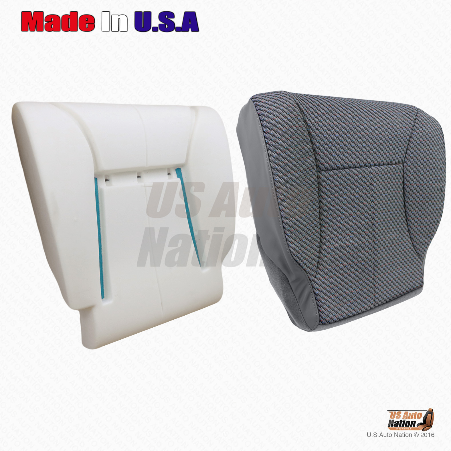 Details about  /2000-2002 Dodge Ram 2500 SLT Front Driver Side Bottom Cloth Seat Cover dark gray