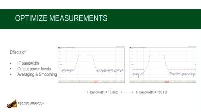 Optimizing Vector Network Analyzer Measurements