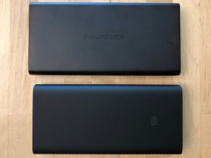 Top: RAVPower 45W Super-C 20100. Bottom: Xiaomi Mi Power Bank 3.