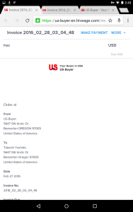 Invoice English iPhone