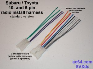 Radio Wiring Adapter (Harness) For Subaru And Toyota
