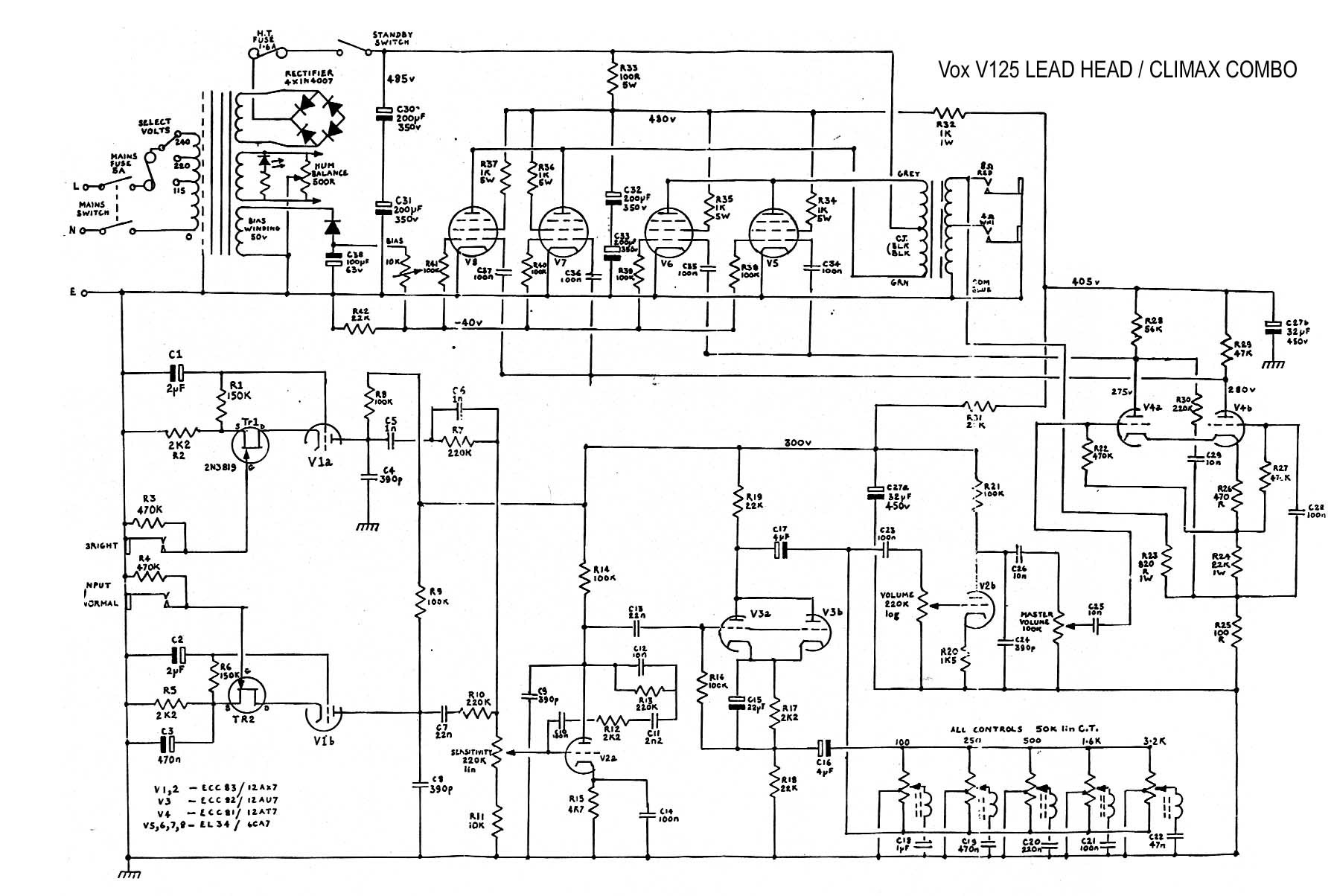 Vox Vt100 Usb Mini B Wiring Diagram