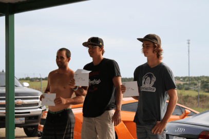 1rst place went to Aidan Gunningham who gets to choose any 3 exotic cars and take 7 laps each around the racetrack out here at Wakesport Ranch in Cresson, Texas. #Lamborgini #Ferrari #Audi #Jaguar #Viper … 2nd place went to Cam Talbert who gets to choose 2 cars & take 7 laps each … 3rd place went to Connor Hammond who gets a thrill ride in the car of his choice.