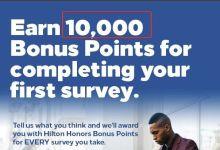 Hilton | 3分钟完成问卷调查,送10K Hilton积分【2021.3更新:活动仍然有效】