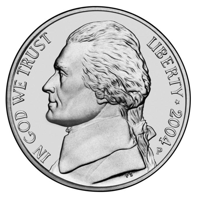 2004 Westward Journey Nickel Series Uncirculated Obverse