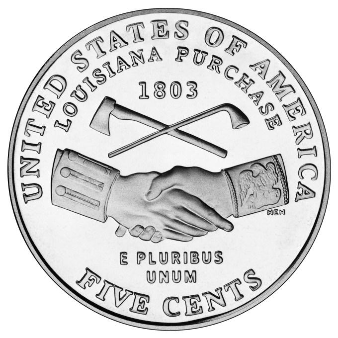 2004 Westward Journey Nickel Series Louisiana Purchase Uncirculated Reverse