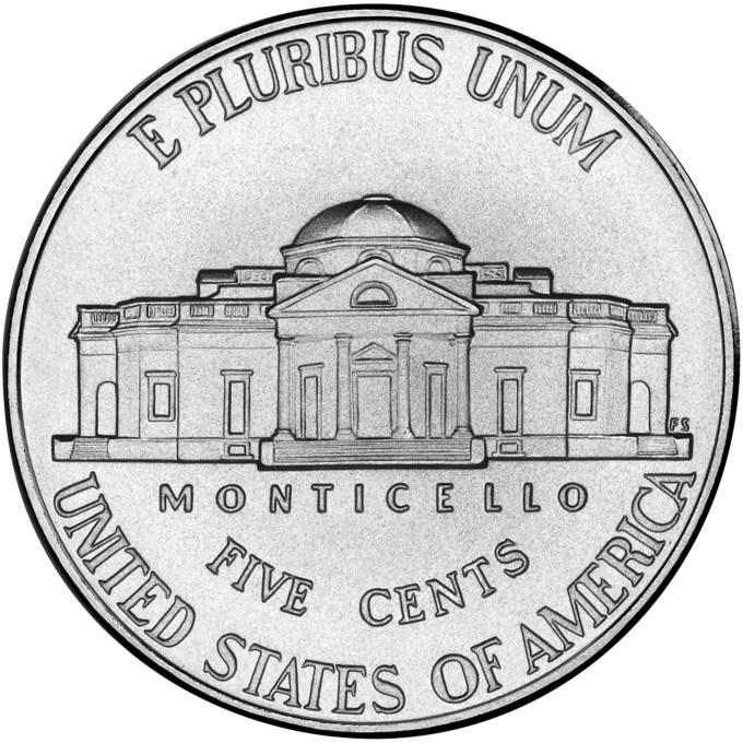 2006 Westward Journey Nickel Series Monticello Uncirculated Reverse