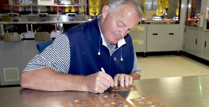US Mint Director David Ryder Signing 2019 Proof Sets (Image from the United States Mint)