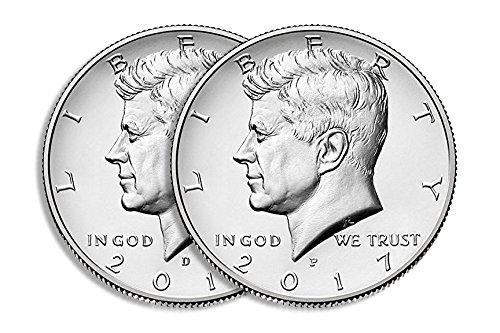 2017 D&P Kennedy Half Dollar Set