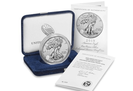 2019-S American Eagle Silver Enhanced Reverse Proof