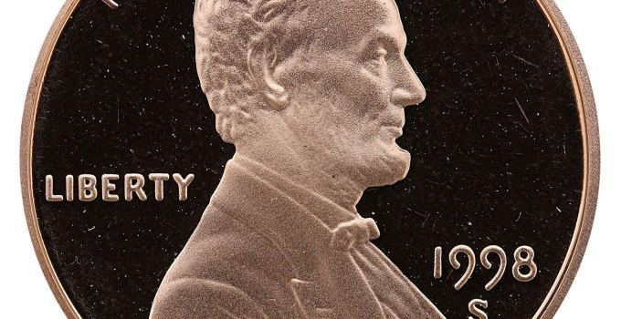 1998-S Lincoln Cent Proof