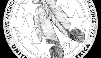 2021 Native American Dollar Reverse Line Art
