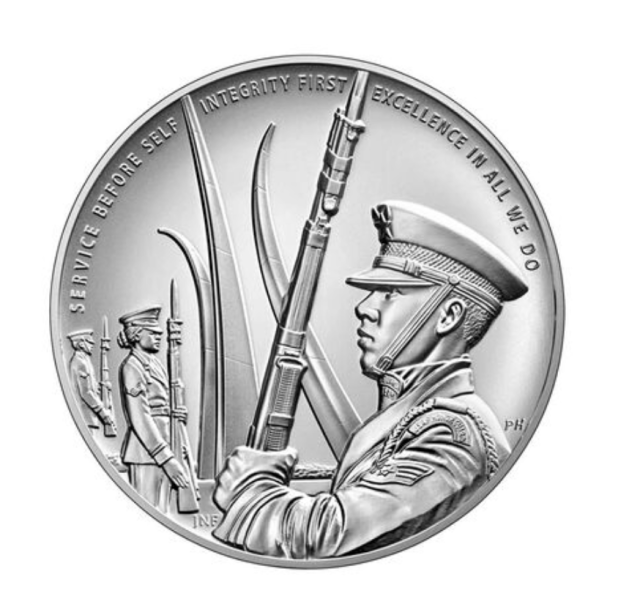 United States Air Force Silver Medal Reverse (Image Courtesy of The United States Mint)