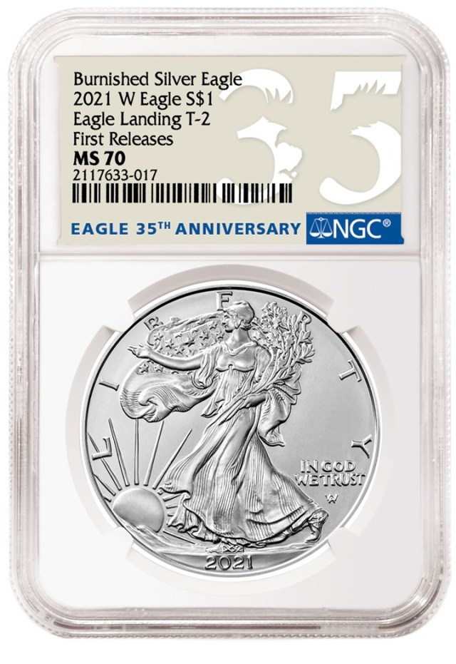 2021-W American Eagle Burnished Special Labels and Designations (Image Courtesy of NGC)