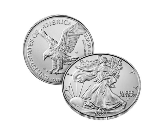 2021-W American Eagle Uncirculated Silver Coin (Image Courtesy of The United States Mint)