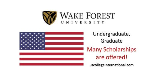Wake Forest University Scholarships