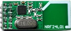 Зелёный модуль NRF24l01