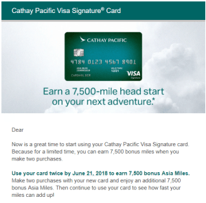 cathay pacific targeted 75k