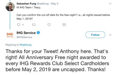 chase free night twitter response 1