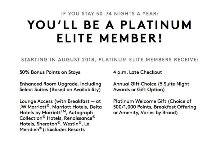 marriott platinum benefits