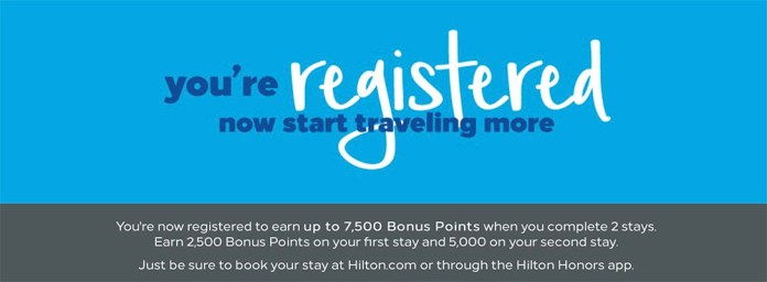 hilton-honors-7500-bonus-points-2019-successful