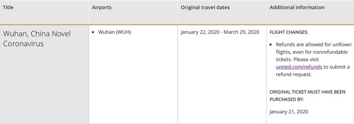 united-airlines-travel-waiver-2020-2