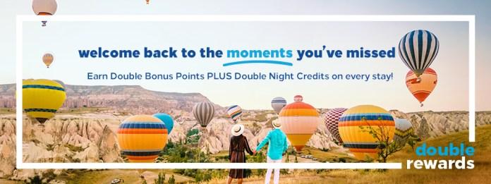Welcome Back! Earn Double Bonus Points!