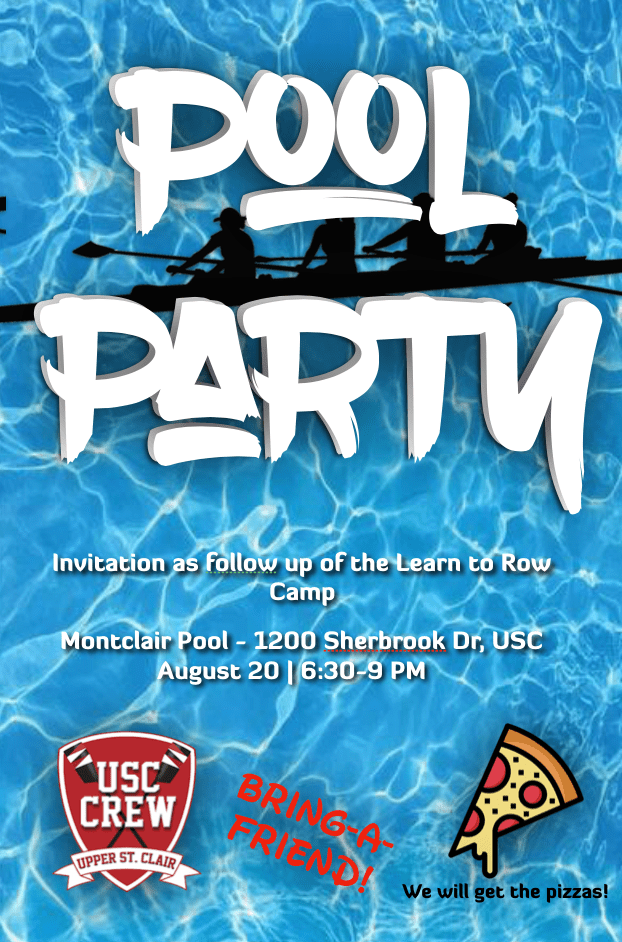 Pool Party USC Rowing Association August 20 2019