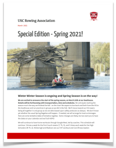 USC Rowing CREW Newsletter Spring 2021