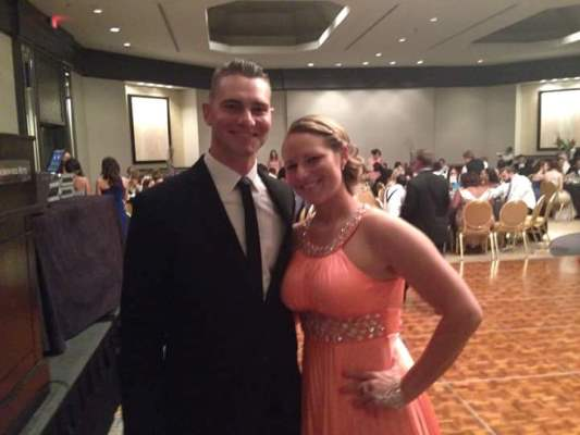 Cea is pictured here at the annual Barrister's Ball at FCSL with her brother Bert also a Salk alum who played baseball at Salk
