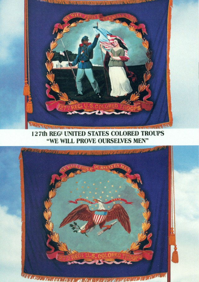 127th regiment flag post card