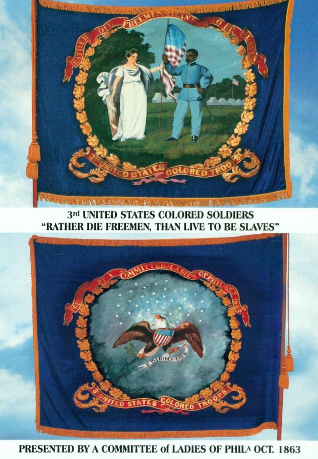 3rd Regiment Flag Postcard