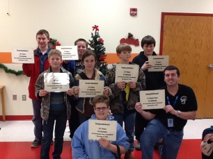 Southeast Junior High Chess Team with Coach Ryan Hizey