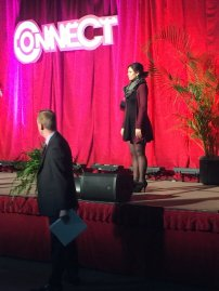 2016 04 04 FBLA State - sound check for opening ceremonies - Zoey Ball singing National Anthem